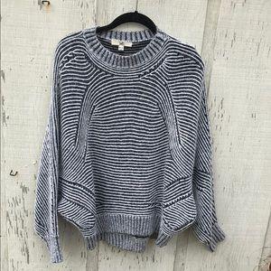 Ya Los Angeles black and white Bat sleeve sweater
